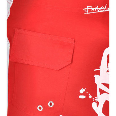 Billabong Poly Cotton  Printed Shorts_bysht3 - Red & White