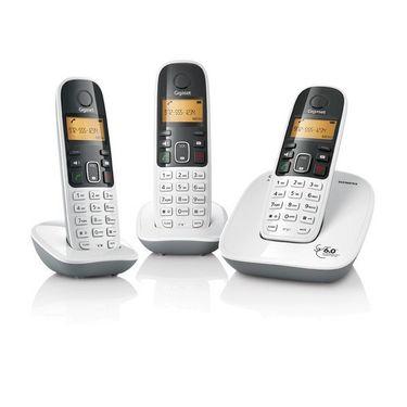 Gigaset A490 Trio cordless phone - White