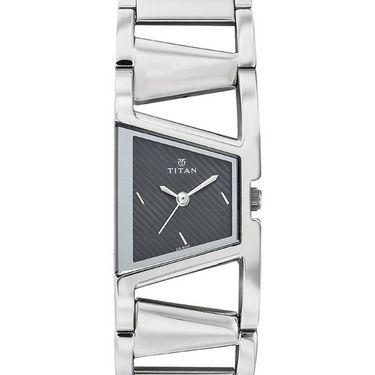 Titan Analog Asymmetrical Dial Watch_2486sm02 - Black