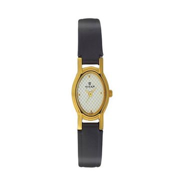 Titan Analog Oval Dial Watch_2449yl01 - Light Grey