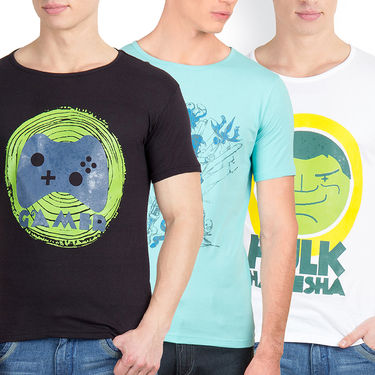 Pack of 3 Incynk Cotton T Shirts_Mhtc435