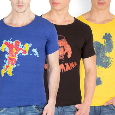 Pack of 3 Incynk Cotton T Shirts_Mhtc444