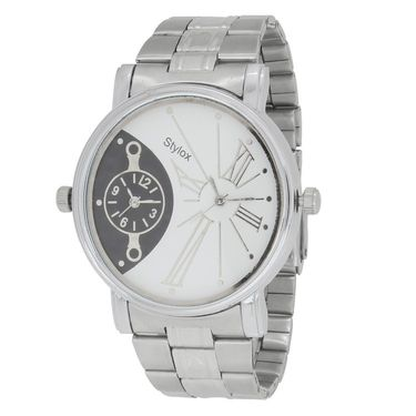 Stylox Round Dial Analog Watch_whstx201 - White