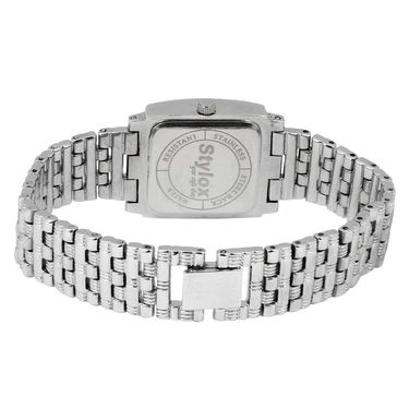 Stylox Square Dial Analog Watch_whstx502 - White