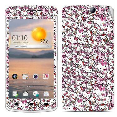 Snooky 38797 Digital Print Mobile Skin Sticker For Oppo N1 Mini N5111 - Pink