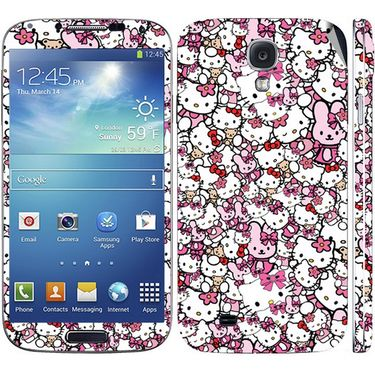Snooky 38813 Digital Print Mobile Skin Sticker For Samsung Galaxy S4 GT-I9500 - Pink
