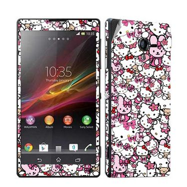 Snooky 38832 Digital Print Mobile Skin Sticker For Sony Xperia ZL - Pink