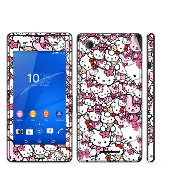 Snooky 38834 Digital Print Mobile Skin Sticker For Sony Xperia E3 - Pink