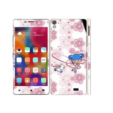 Snooky 38872 Digital Print Mobile Skin Sticker For Gionee Elife S5.1 - White