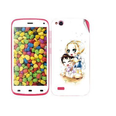 Snooky 38881 Digital Print Mobile Skin Sticker For Gionee Elife E3 - White