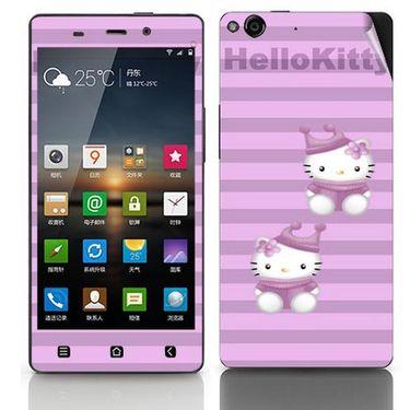 Snooky 38887 Digital Print Mobile Skin Sticker For Gionee Elife E6 - Purple