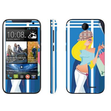 Snooky 38915 Digital Print Mobile Skin Sticker For HTC Desire 310 - Blue