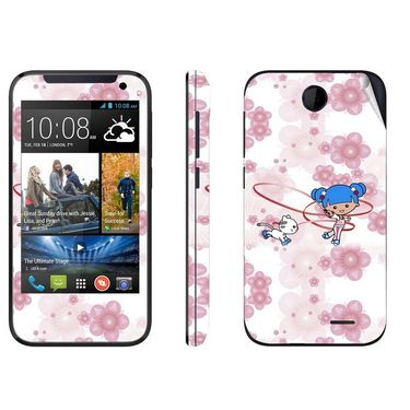 Snooky 38920 Digital Print Mobile Skin Sticker For HTC Desire 310 - White