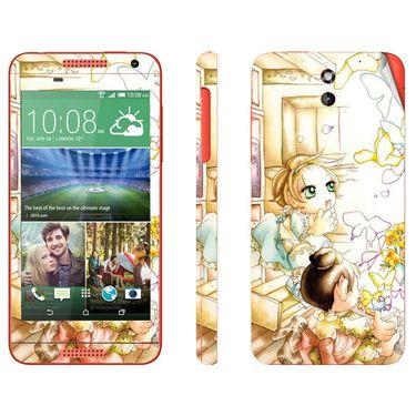 Snooky 38921 Digital Print Mobile Skin Sticker For HTC Desire 610 - White
