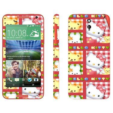 Snooky 38922 Digital Print Mobile Skin Sticker For HTC Desire 610 - Pink