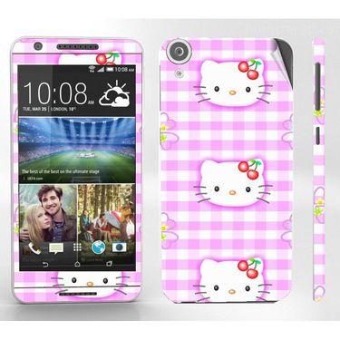 Snooky 38936 Digital Print Mobile Skin Sticker For HTC Desire 820 - Pink