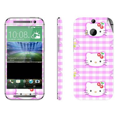 Snooky 38948 Digital Print Mobile Skin Sticker For HTC One M8 - Pink