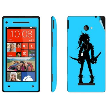 Snooky 38962 Digital Print Mobile Skin Sticker For HTC 8X - Blue