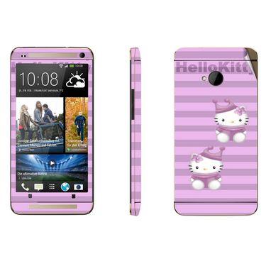Snooky 39007 Digital Print Mobile Skin Sticker For HTC One M7 - Purple