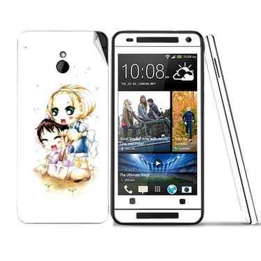 Snooky 39025 Digital Print Mobile Skin Sticker For HTC One mini - White