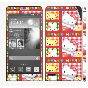 Snooky 39030 Digital Print Mobile Skin Sticker For Huawei Ascend P6 - Pink