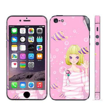 Snooky 39048 Digital Print Mobile Skin Sticker For Apple Iphone 5 - Pink