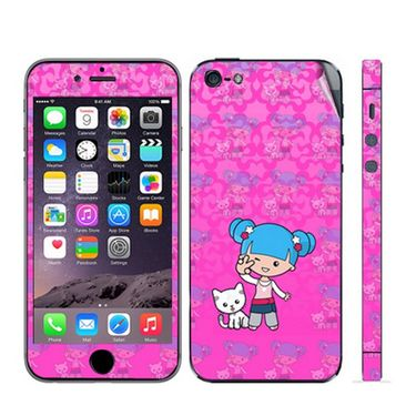 Snooky 39051 Digital Print Mobile Skin Sticker For Apple Iphone 5 - Pink