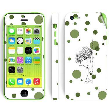 Snooky 39057 Digital Print Mobile Skin Sticker For Apple Iphone 5C - White