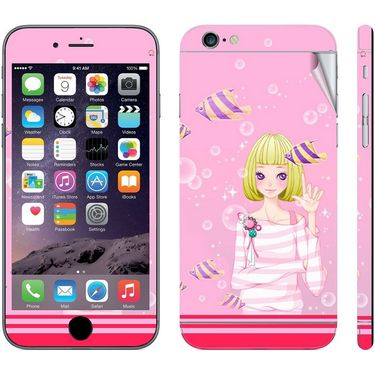 Snooky 39072 Digital Print Mobile Skin Sticker For Apple Iphone 6 - Pink