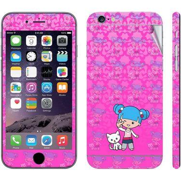 Snooky 39075 Digital Print Mobile Skin Sticker For Apple Iphone 6 - Pink