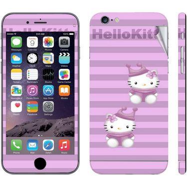 Snooky 39079 Digital Print Mobile Skin Sticker For Apple Iphone 6 Plus - Purple