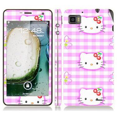 Snooky 39128 Digital Print Mobile Skin Sticker For Lenovo K860 - Pink