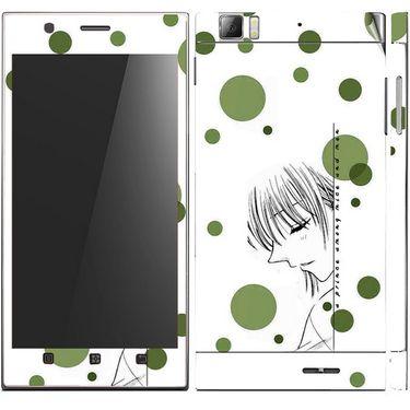 Snooky 39141 Digital Print Mobile Skin Sticker For Lenovo K900 - White
