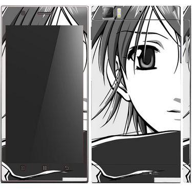 Snooky 39146 Digital Print Mobile Skin Sticker For Lenovo K900 - Gray
