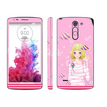 Snooky 39156 Digital Print Mobile Skin Sticker For LG G3 Stylus - Pink