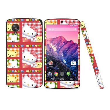 Snooky 39162 Digital Print Mobile Skin Sticker For LG Google Nexus 5 - Pink