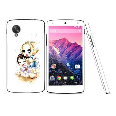 Snooky 39169 Digital Print Mobile Skin Sticker For LG Google Nexus 5 - White