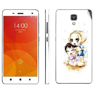 Snooky 39205 Digital Print Mobile Skin Sticker For Xiaomi Mi4 - White
