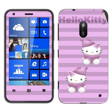 Snooky 39247 Digital Print Mobile Skin Sticker For Nokia Lumia 620 - Purple
