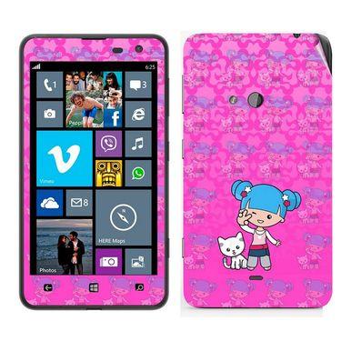 Snooky 39267 Digital Print Mobile Skin Sticker For Nokia Lumia 625 - Pink