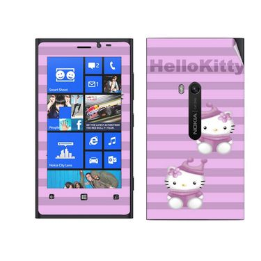 Snooky 39271 Digital Print Mobile Skin Sticker For Nokia Lumia 920 - Purple