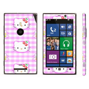 Snooky 39284 Digital Print Mobile Skin Sticker For Nokia Lumia 925 - Pink