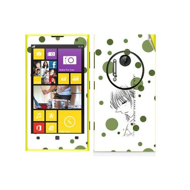 Snooky 39297 Digital Print Mobile Skin Sticker For Nokia Lumia 1020 - White