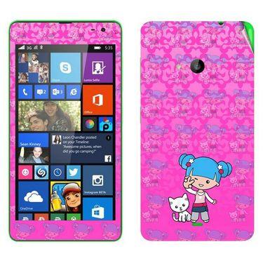 Snooky 39339 Digital Print Mobile Skin Sticker For Microsoft Lumia 535 - Pink