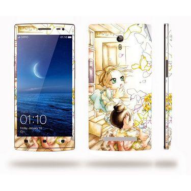 Snooky 39341 Digital Print Mobile Skin Sticker For OPPO Find 7 X9076 - White