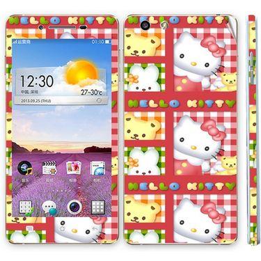 Snooky 39378 Digital Print Mobile Skin Sticker For OPPO R1 R829t  - Pink