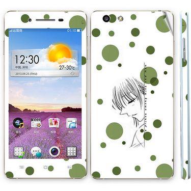 Snooky 39381 Digital Print Mobile Skin Sticker For OPPO R1 R829t  - White