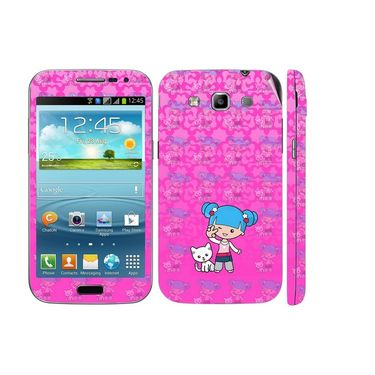 Snooky 39423 Digital Print Mobile Skin Sticker For Samsung Galaxy Grand Quattro 8552 - Pink