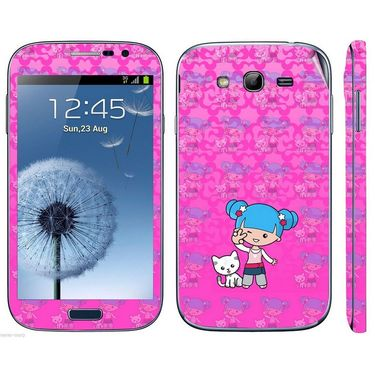 Snooky 39435 Digital Print Mobile Skin Sticker For Samsung Galaxy Grand Duos I9082 - Pink