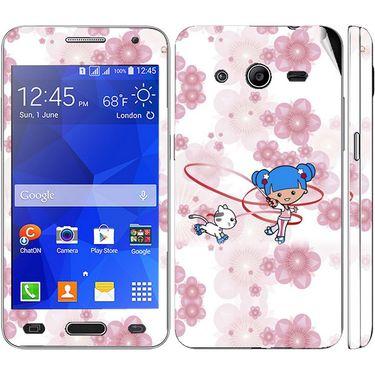 Snooky 39448 Digital Print Mobile Skin Sticker For Samsung Galaxy Core 2 G355h - White
